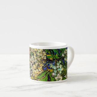 La castaña floreciente ramifica bella arte de Van Taza Espresso
