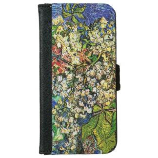 La castaña floreciente ramifica caja de la cartera carcasa de iPhone 6