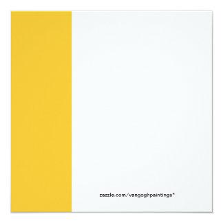 """La castaña floreciente ramifica Vincent van Gogh. Invitación 5.25"""" X 5.25"""""""
