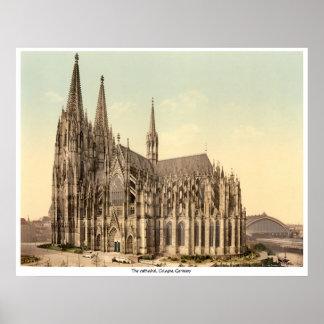 La catedral, Colonia, Alemania Póster