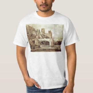 La catedral de Durham y el puente según lo visto Camisas