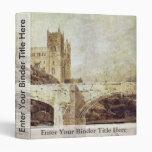 La catedral de Durham y el puente según lo visto d