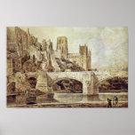 La catedral de Durham y el puente según lo visto d Impresiones