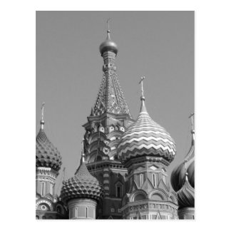 La catedral de la albahaca del santo de B&W Tarjeta Postal