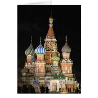 La catedral de la albahaca del santo tarjeta de felicitación