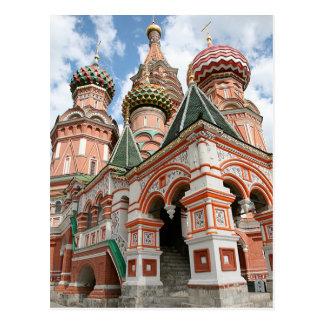 La catedral de la albahaca del santo tarjetas postales