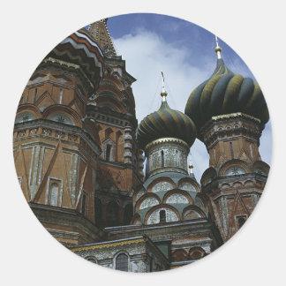 La catedral de la albahaca del St Etiqueta