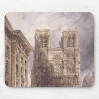La catedral de Notre Dame, París, 1836 Tapete De Ratones