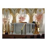 La catedral de San José - altar principal Invitación 12,7 X 17,8 Cm
