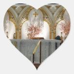 La catedral de San José - altar principal Calcomanías De Corazones Personalizadas