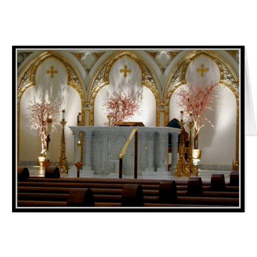 La catedral de San José - altar principal Tarjeta De Felicitación