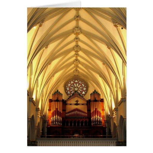 La catedral de San José - desván de coro/tubos de  Tarjeta De Felicitación