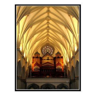 La catedral de San José - desván de coro tubos de Tarjetas Postales