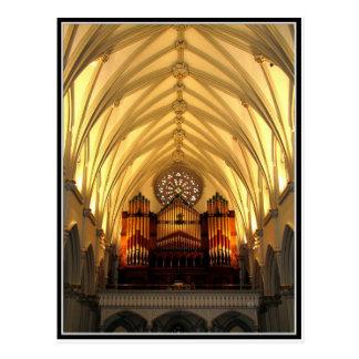 La catedral de San José - desván de coro/tubos de  Postal
