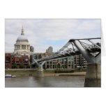 La catedral de San Pablo, del puente Londres del m Felicitacion