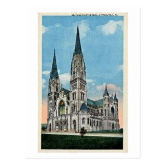 La catedral de San Pablo del vintage, Pittsburgh, Postal