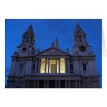 La catedral de San Pablo (Londres) en la tarjeta d