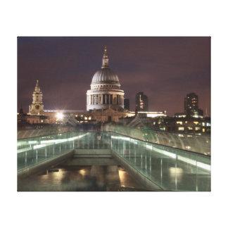 La catedral de San Pablo, Londres Lona Envuelta Para Galerias