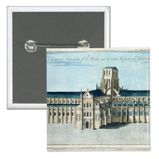 La catedral de San Pablo Pin Cuadrada 5 Cm