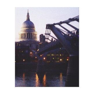 La catedral de San Pablo y el puente del milenio Impresiones De Lienzo