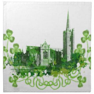 La catedral de San Patricio en Dublín Servilleta