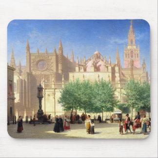 La catedral de Sevilla Alfombrillas De Ratón