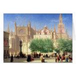 La catedral de Sevilla Tarjeta De Felicitación