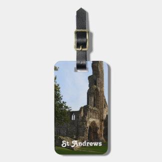 La catedral de St Andrew Etiqueta De Maleta