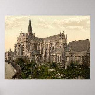 La catedral de St Patrick, Dublín, Irlanda Póster