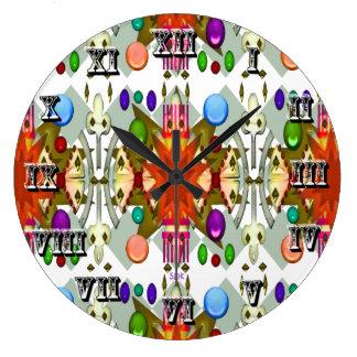 La catedral del fiesta del color/del renacimiento reloj redondo grande