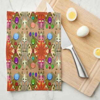 La catedral del fiesta del color/del renacimiento toallas de cocina
