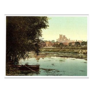 La catedral del río, Ely, Inglaterra pH raro Postal