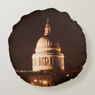 La catedral del St Pauls en sepia y seca efecto Cojín Redondo