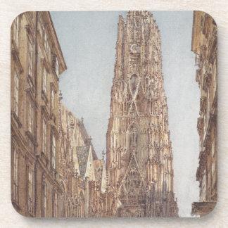 La catedral del St Stephen en Viena por el Vo de Posavasos De Bebida
