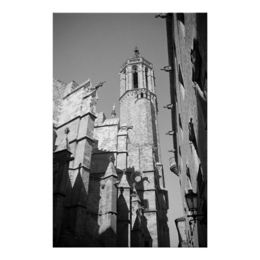 La Catedral Gargoyles Photo Poster Art Print