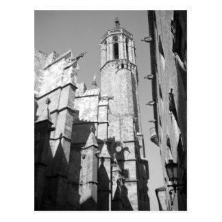 La Catedral Gargoyles Postcard (Barcelona, Spain)