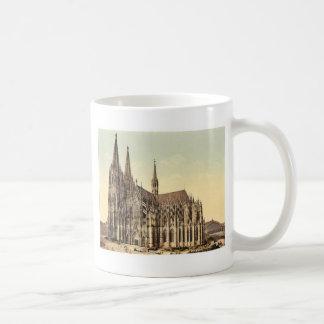 La catedral, lado, Colonia, el Rin, Alemania r Tazas