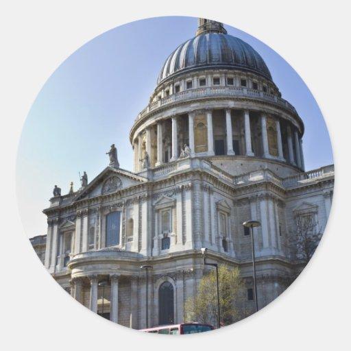 La catedral Londres de San Pablo Etiqueta