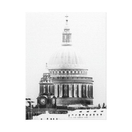 La catedral Londres de San Pablo Impresión En Lienzo Estirada