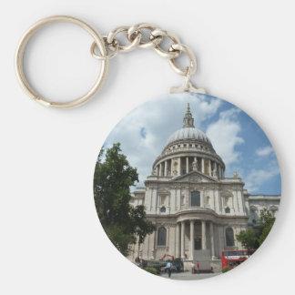 La catedral Londres de San Pablo Llavero Redondo Tipo Pin