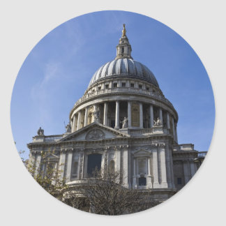 La catedral Londres de San Pablo Pegatina Redonda