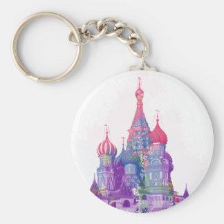 La catedral Moscú de la albahaca del santo Llaveros Personalizados