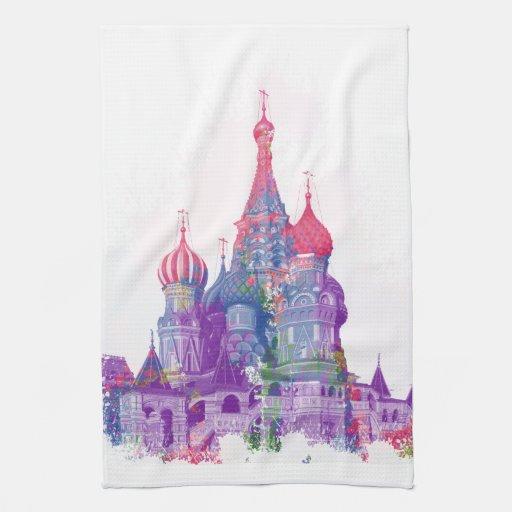La catedral Moscú de la albahaca del santo Toallas De Mano