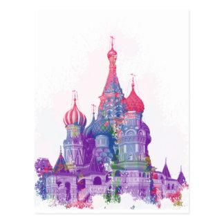 La catedral Moscú de la albahaca del santo Postal