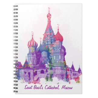 La catedral Moscú de la albahaca del santo Spiral Notebooks