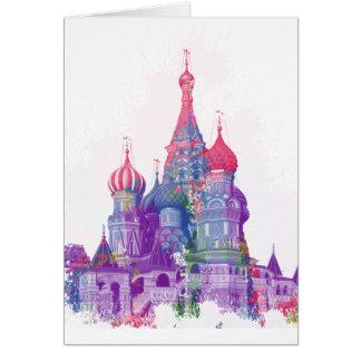 La catedral Moscú de la albahaca del santo Tarjeta De Felicitación