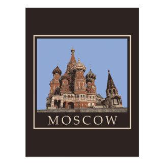 La catedral Moscú de la albahaca del santo Tarjetas Postales