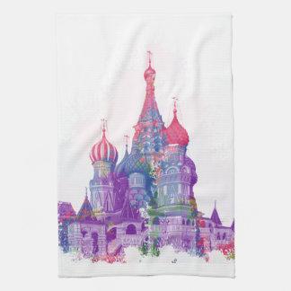 La catedral Moscú de la albahaca del santo Toalla De Cocina