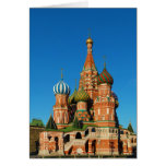 La catedral Moscú Rusia de la albahaca del santo Tarjeta De Felicitación