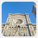 La catedral Santa María del Fiore, Firenze, Calcomanías Cuadradass